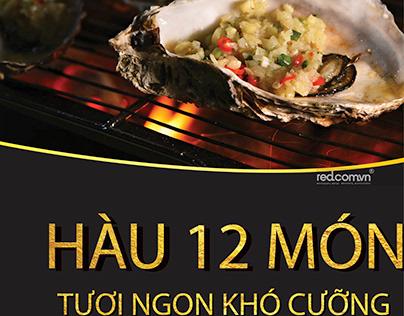 Poster hàu 12 món