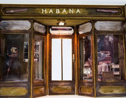 Cuban cigar storefront  scale 1:18