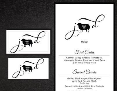Wedding Logo/icon with menu & rsvp card