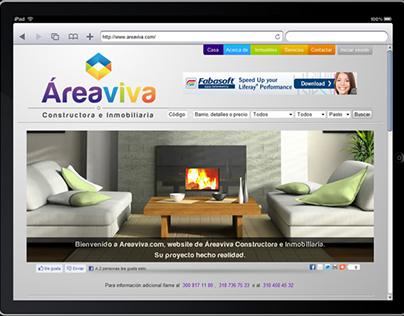 Áreaviva Website