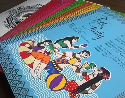Wedding Card - Madhubani style