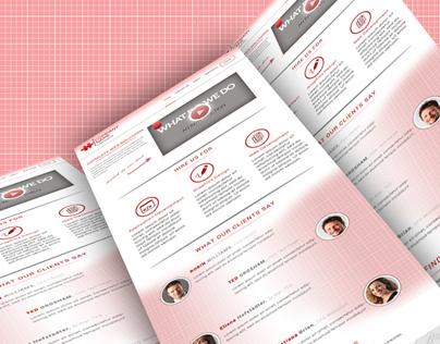 A Home Page web-design.