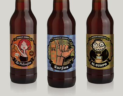 Guadalupe Brewery Label Designs