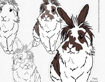 The Ninja Bunny Project [Vector Illustations]