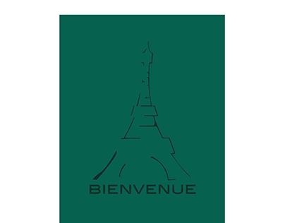 Bienvenue- Logo Design/ Travel Poster