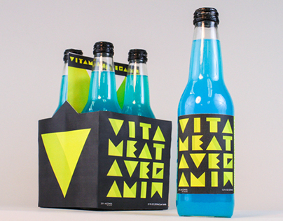 """Vitameatavegamin"" Bottle Pack Design on Behance"