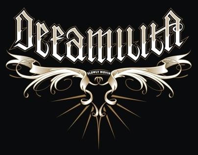 lettering, defamilita band