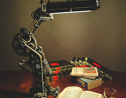 Steampunk style desk lamp