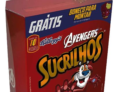 Criação embalagem Sucrilhos Avengers