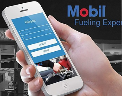 Mobil gas station fueling experience
