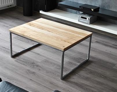 "Coffee table ""Industrial Medium"""