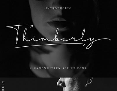 Thimberly Signature Font