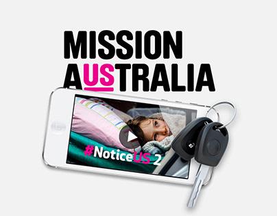 Mission Australia #NoticeUS Campaign