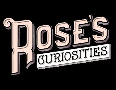 Rose's Curiosities logo and responsive design website