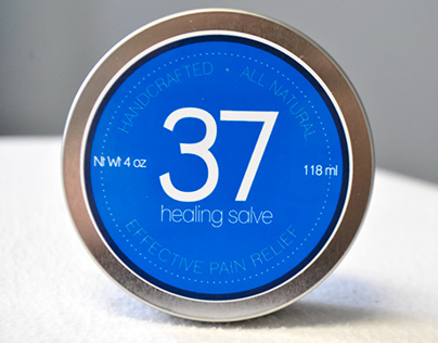 37 Healing Salve - Label Design + Product Photography