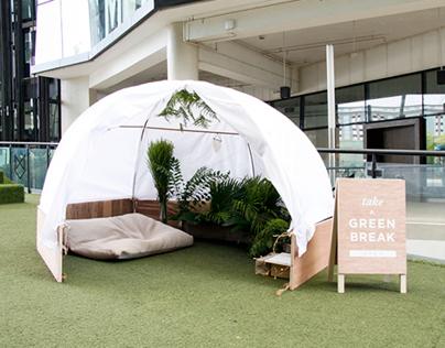 TAKE A GREEN BREAK: Pop-up tent