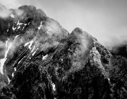 Bavarian Mountains in Greyscale