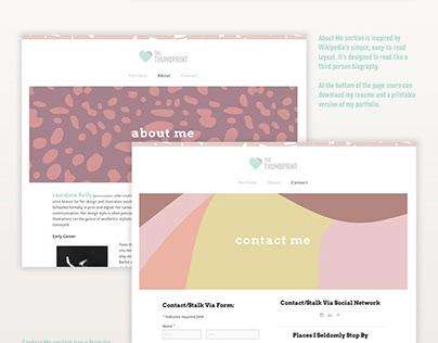 Personal Graphic Design Portfolio Website