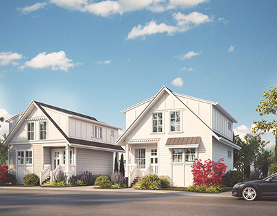 1056-Architectural Renderings 8 lot Subdivision
