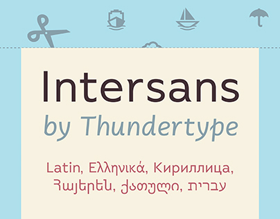 Intersans Typeface