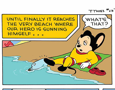 Mighty Mouse Comic Page - Retouching+Color