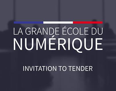 La Grande École du Numérique - Invitation to tender