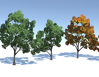 Summer and Autumn Trees with LoDs