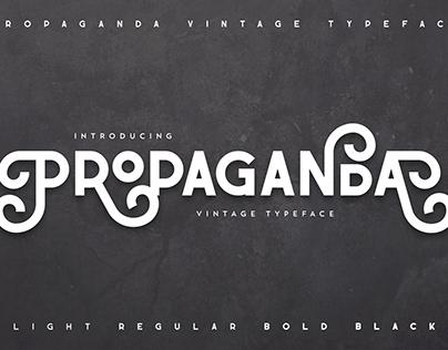 Propaganda - Vintage typeface | free font | freebie