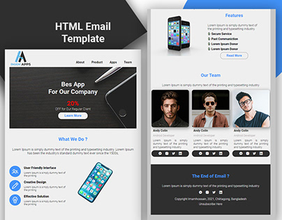 HTML Email Newsletter Design