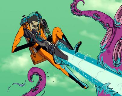 Kill the giant Octopus
