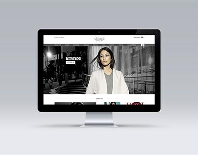 Website for fashion store Chiaro