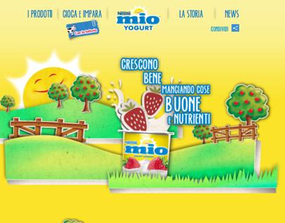 Yogurt MIO - Restyling website identity