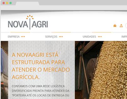 NovaAgri - Website Layout