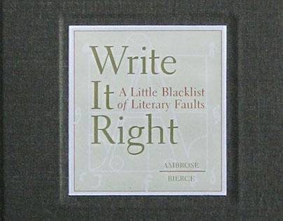 Book: Ambrose Bierce, Write It Right