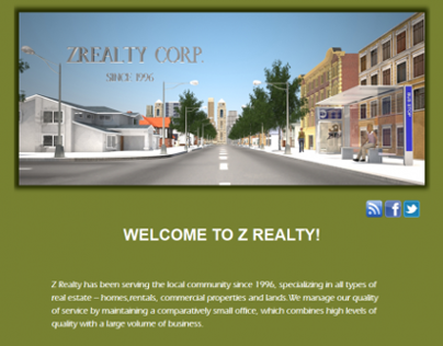 ZRealty Corp Homepage