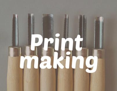 Print making / Linocut Technique