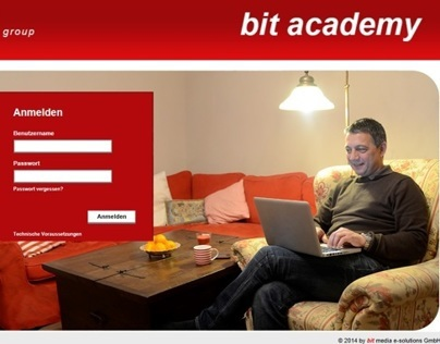 bit academy e-learning (photos and screendesign)