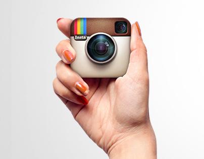 InstaOrange (selfie with Instagram)
