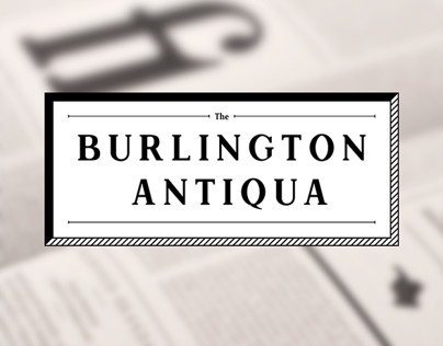 Burlington Antiqua | Specimen Book