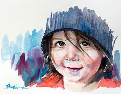 Portrait in Watercolour 2014