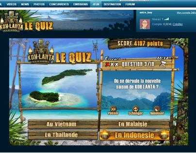 Koh-Lanta Le Quiz / TF1 Mini Site