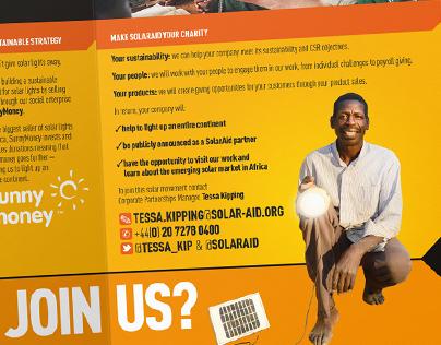 SolarAid solar sector flyer