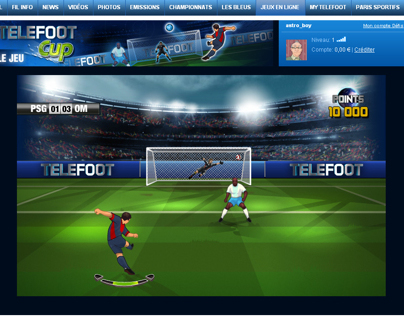 Telefoot Cup /  TF1 Mini Site