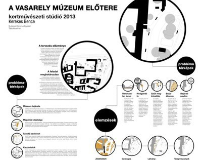Entrance area of the Vasarely Museum   poster design