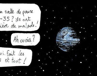 """#02""""L'ÉTOILE NOIRE RESTE OUVERTE PENDANT LES TRAVAUX"""""""