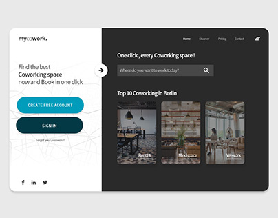 mycowork - Website design