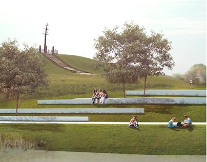 Public riverside park development   visualization