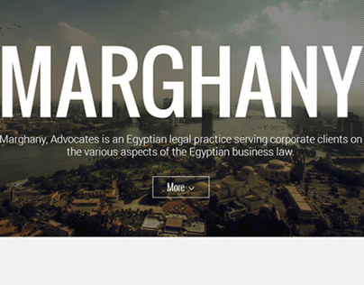 Marghany Single-page website