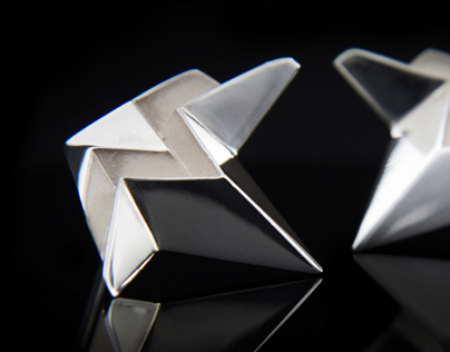 Contemporary Jewellery Origami Earrings