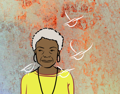 GIF Animation - Maya Angelou (Tribute)